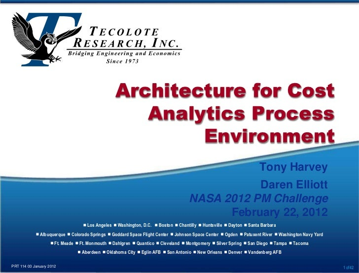 Architecture for Cost                                                     Analytics Process                               ...