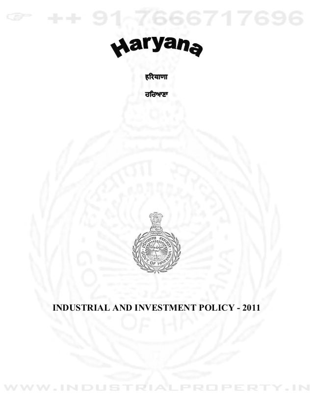 INDUSTRIAL AND INVESTMENT POLICY - 2011