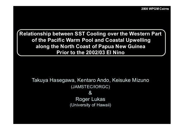 Takuya Hasegawa, Kentaro Ando, Keisuke Mizuno (JAMSTEC/IORGC) & Roger Lukas (University of Hawaii) Relationship between SS...