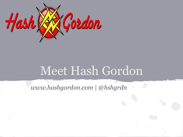 Intro to HashGordon