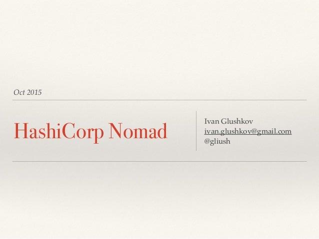 hashicorp nomad