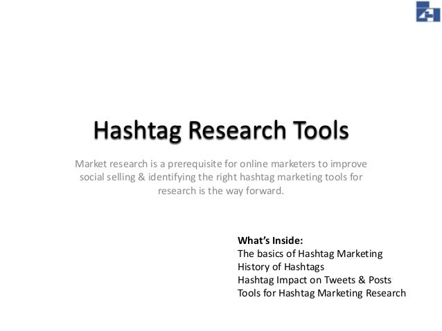 Hashtag Research Tools Market research is a prerequisite for online marketers to improve social selling & identifying the ...