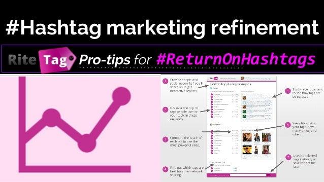 #Hashtag marketing refinement Pro-tips for  #ReturnOnHashtags