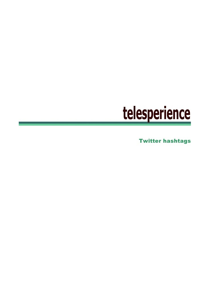 Telecoms Twitter Hashtags