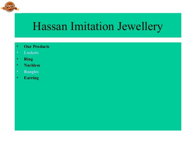 Hassan Imitation Jewellery • Our Products • Lockets • Ring • Nackless • Bangles • Earring