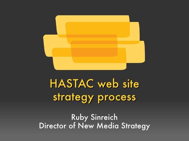 HASTAC's RFP process