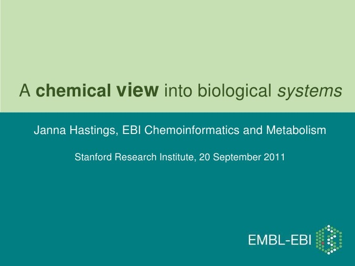 A chemical view into biological systems