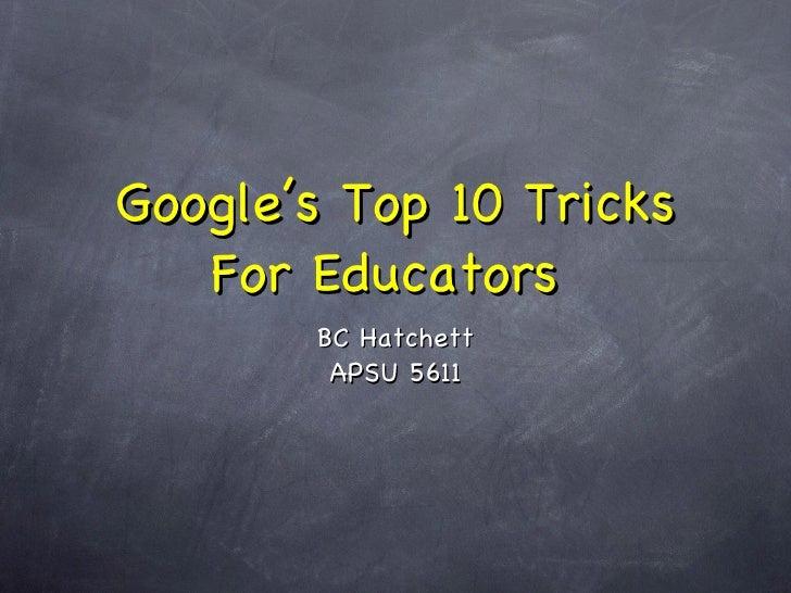 Google's Top Ten Tricks