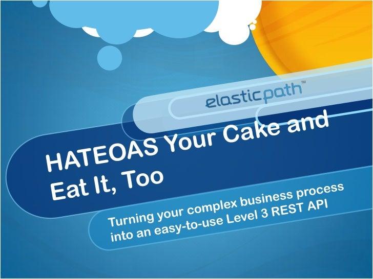 Matt Bishop Product Architect at Elastic Path Built an e-commerce HATEOAS API  18-month effort  20-person dev team Transfo...