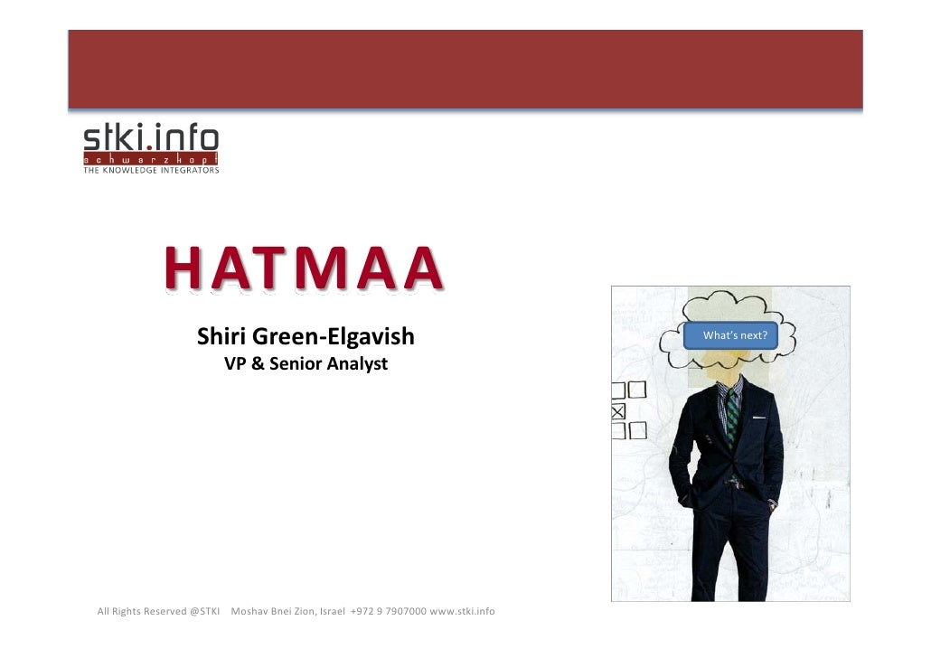 H ATMAA                     Shiri Green‐Elgavish                                              What's next?                ...