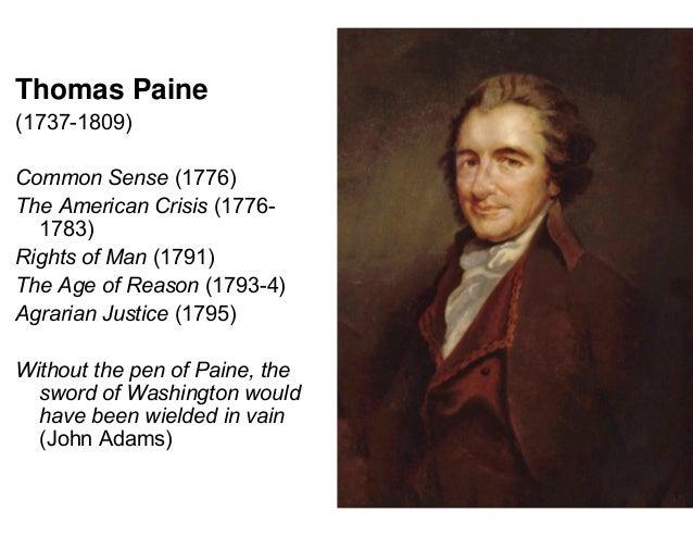 Thomais paine essay in 1791 help?
