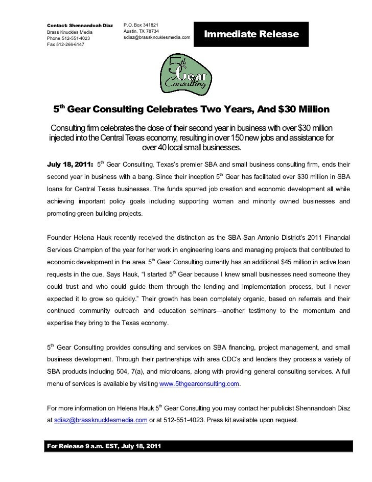 5th Gear Consulting Celebrates 2 Years and $30 million