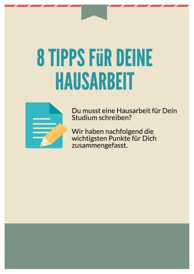 8 Tipps für Deine Hausarbeit