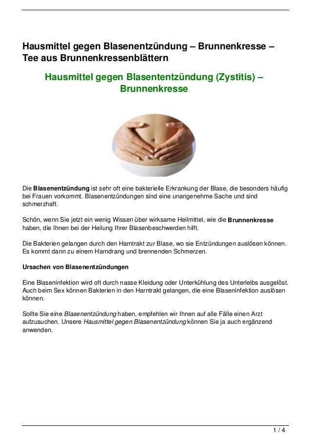 Hausmittel gegen Blasenentzündung – Brunnenkresse –Tee aus Brunnenkressenblättern        Hausmittel gegen Blasententzündun...
