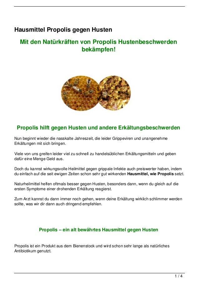 Hausmittel Propolis gegen Husten   Mit den Natürkräften von Propolis Hustenbeschwerden                        bekämpfen! P...