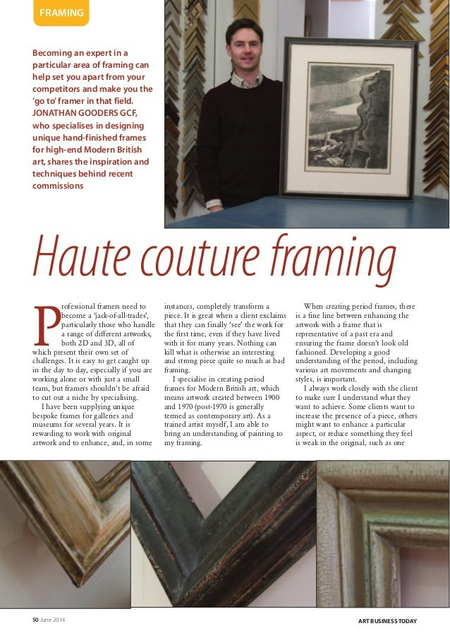 Art business today modern british art haute couture framing for Haute couture today