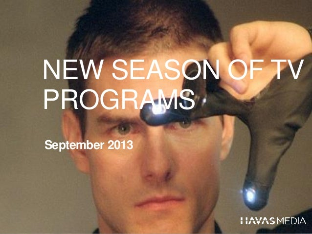 Overview new television programs - September 2013
