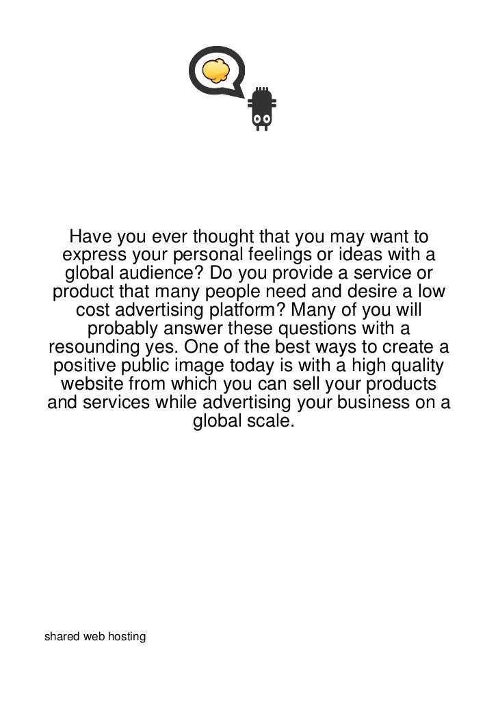 Have you ever thought that you may want to  express your personal feelings or ideas with a  global audience? Do you provid...