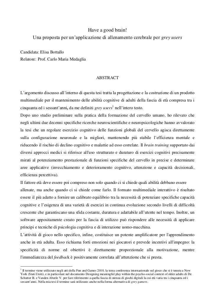 Have a good brain! (abstract)_Elisa Bottallo