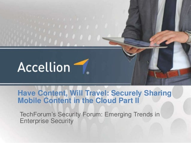 Have content, will travel  securely sharing mobile content in the cloud part II