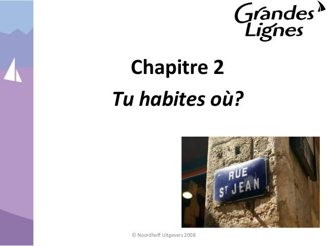 Chapitre 2 Tu habites où? © Noordhoff Uitgevers 2008