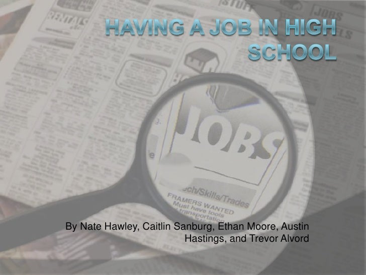 Having a job in high school