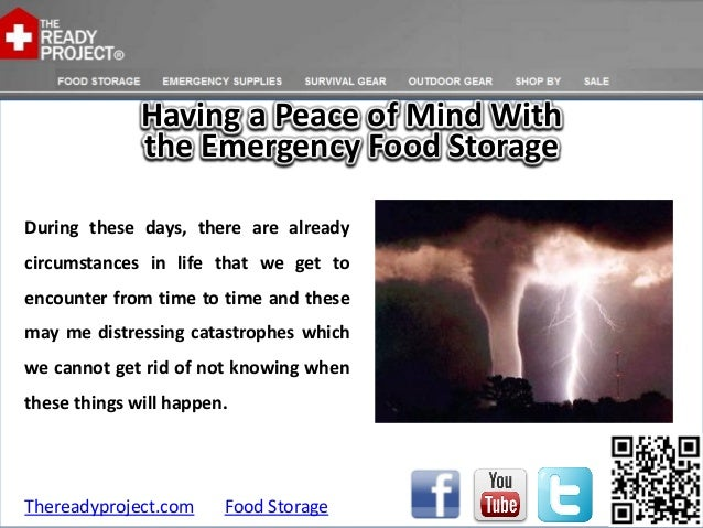 Having a Peace of Mind With              the Emergency Food StorageDuring these days, there are alreadycircumstances in li...