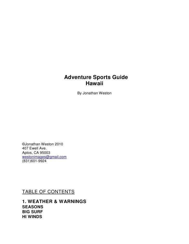 "tc "" "" <br />tc "" "" <br /> <br />  Adventure Sports Guide<br />Hawaii tc ""                                                ..."
