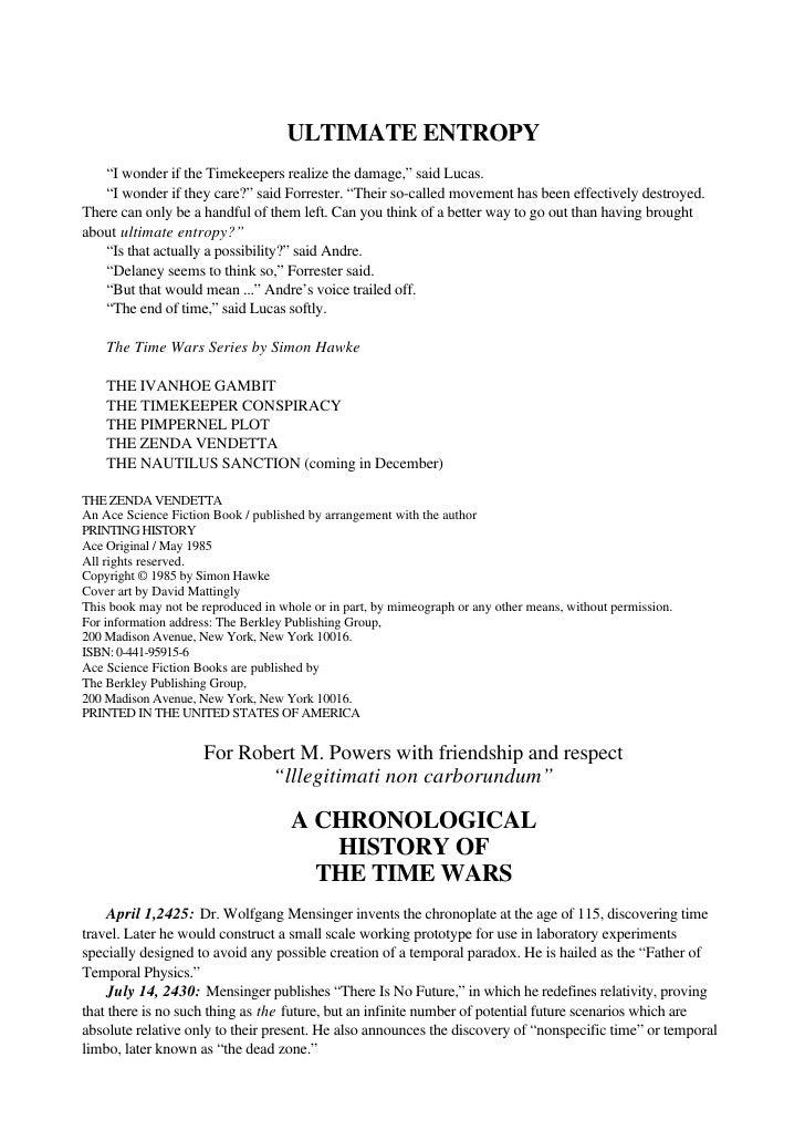 Hawke, simon   time wars 4 - the zenda vendetta