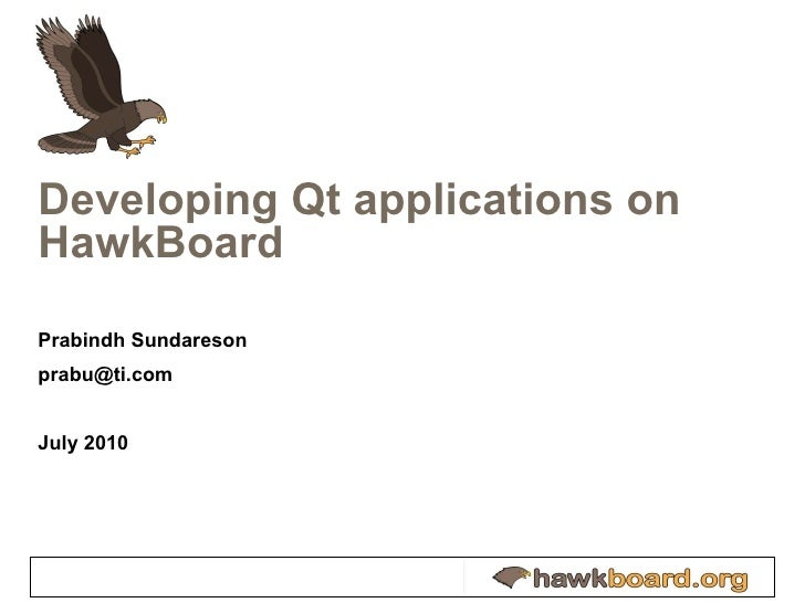Developing and Benchmarking Qt applications on Hawkboard with Xgxperf