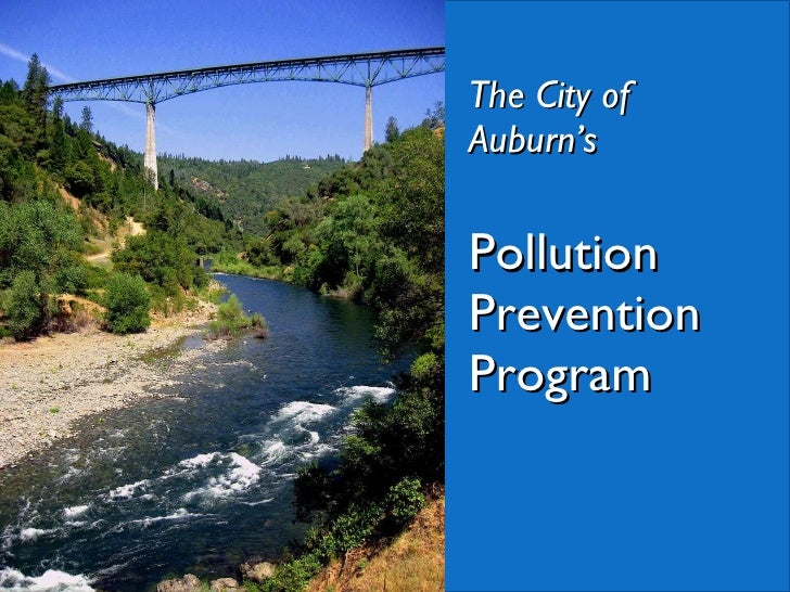 The City of Auburn's Pollution Prevention Program