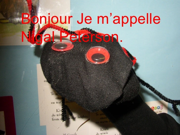 Bonjour Je m'appelle Nigal Peterson.