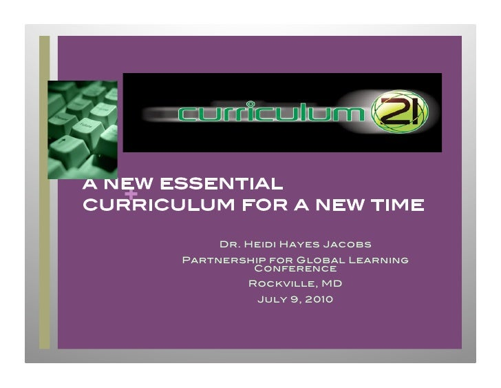 new essential curriculum for a new time