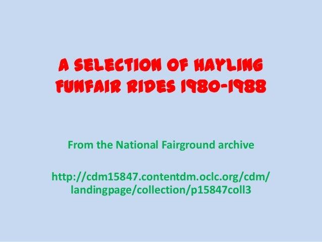 Hayling  Funfair Rides 1980 88
