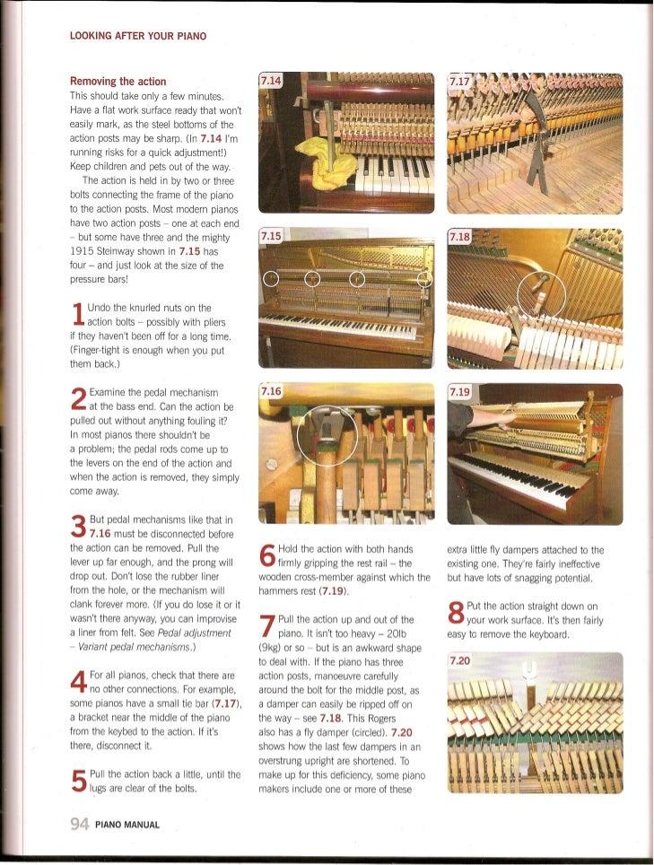 Haynes piano manual action