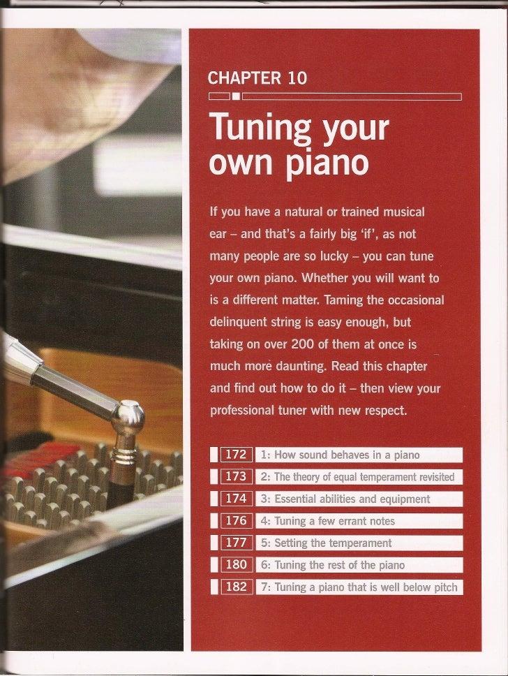 Haynes piano manual tuning