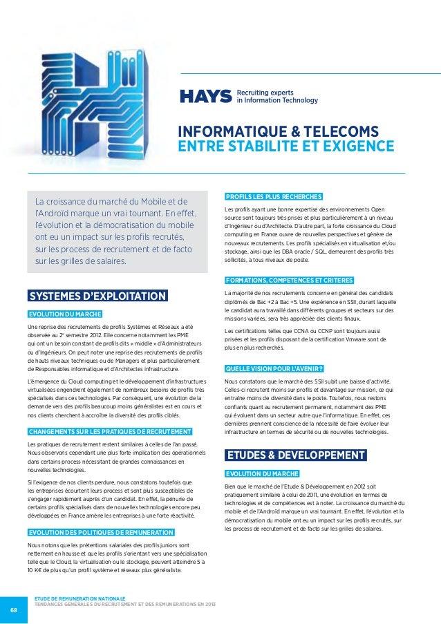 informatique & telecomsentre stabilite et exigenceSYSTEMES D'EXPLOITATIONEVOLUTION DU MARCHEUne reprise des recrutements d...