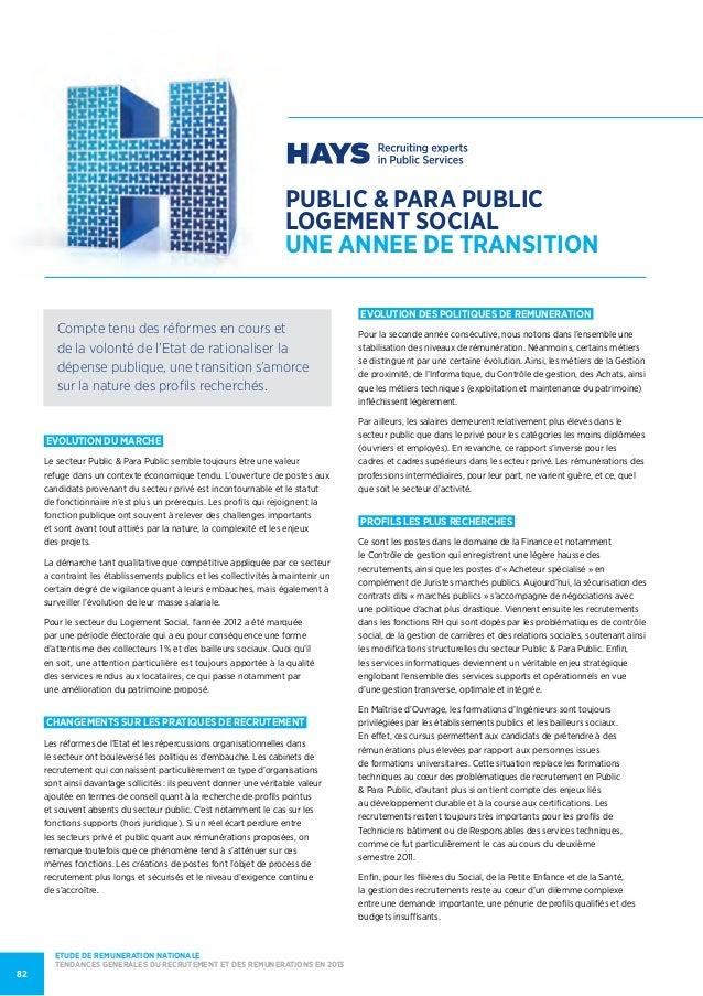 public & PARA PUBLICLOGEMENT SOCIALUNE ANNEE de TRANSITIONEVOLUTION DU MARCHELe secteur Public & Para Public semble toujou...