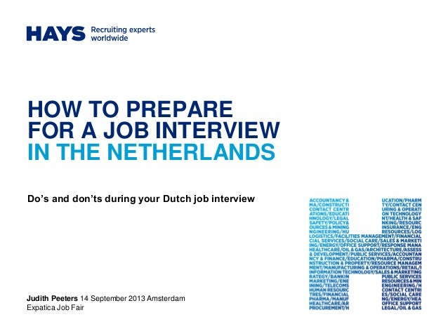 Hays, Judith Peeters: How to prepare for a job interview in the Netherlands