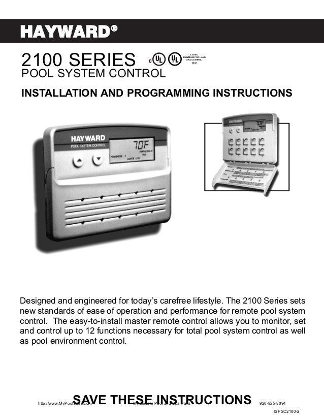 HAYWARD®2100 SERIES                                                              LISTED                                   ...