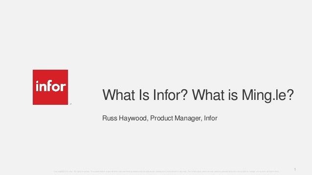 Haywood.what is infor and mingle