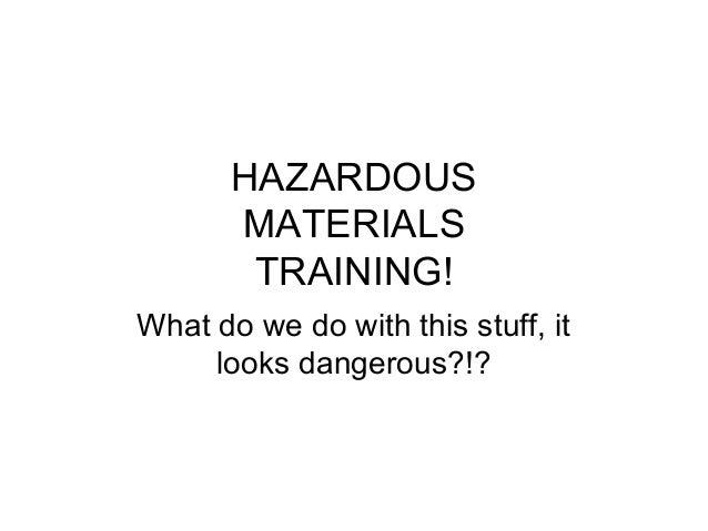Hazardous Materials Training by NETS
