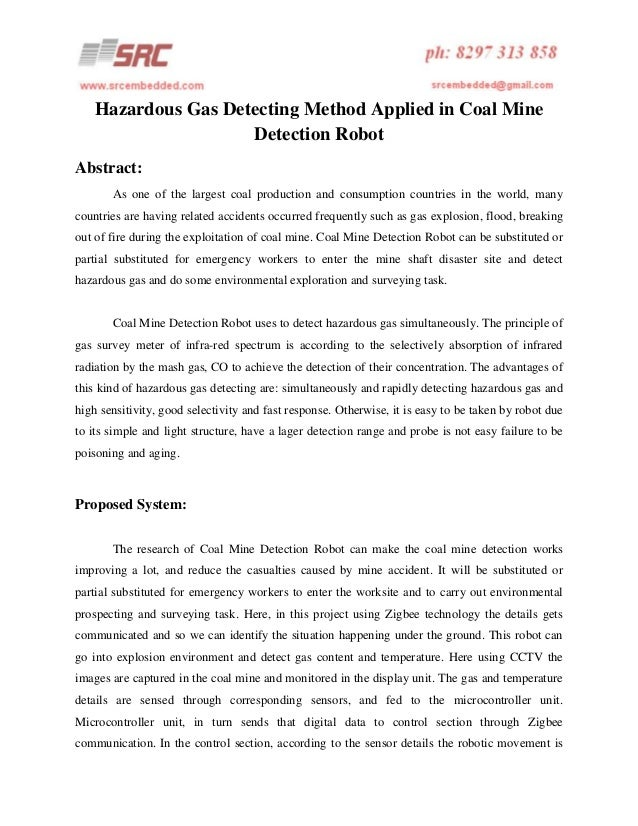 Hazardous gas detecting method applied in coal mine detection robot