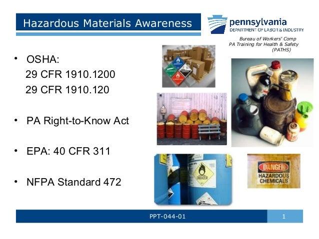 Hazardous Materials Awareness by PA L&I