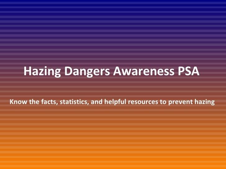 Hazing PSA
