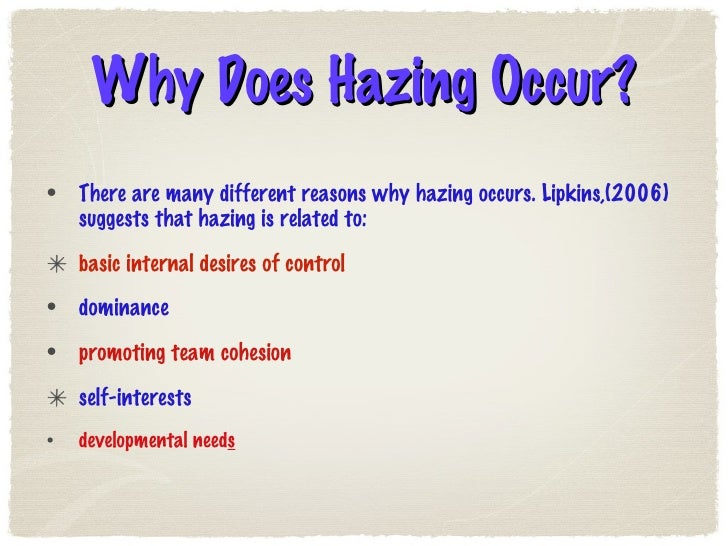 an essay on hazing in college and its effects Report documentation page form approved i n an effort to understand the hazing culture and its effects on ncaa study on college athletes and hazing.