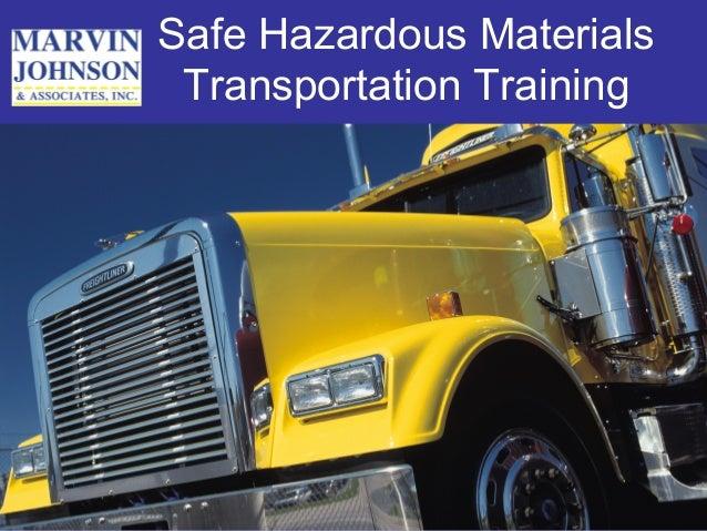 Safe Hazardous Materials Transportation Training
