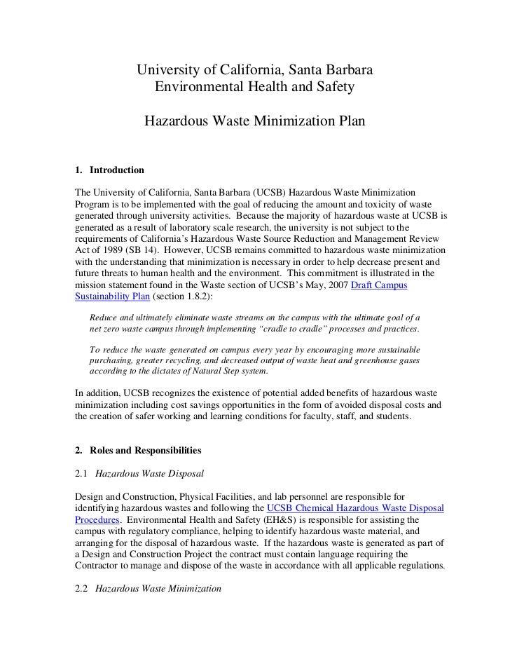 Haz waste minimization_plan