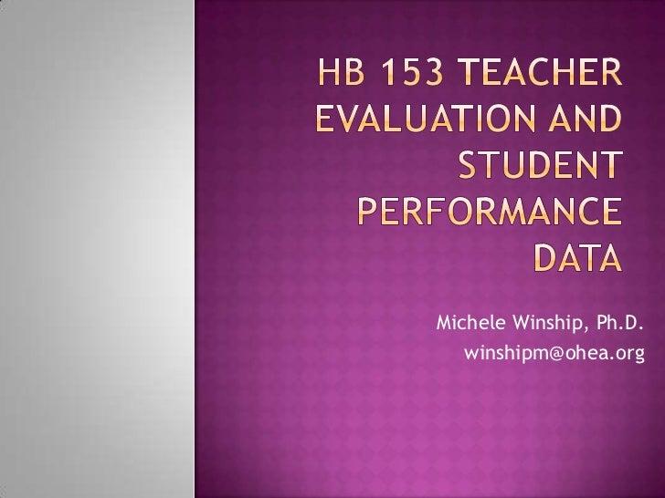 Michele Winship, Ph.D.   winshipm@ohea.org