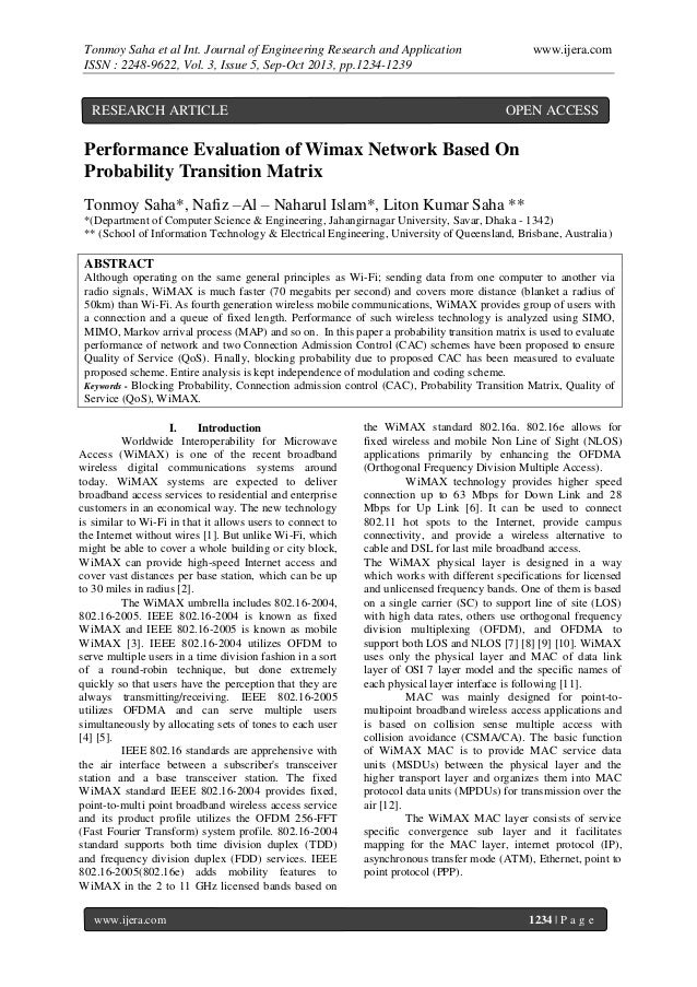 Tonmoy Saha et al Int. Journal of Engineering Research and Application ISSN : 2248-9622, Vol. 3, Issue 5, Sep-Oct 2013, pp...